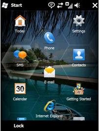 Windows Mobile 6.5 Start Screen
