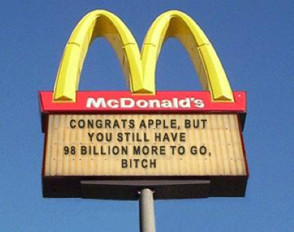 McDonald's isn't impressed with 1 Billion iTunes App Downloads