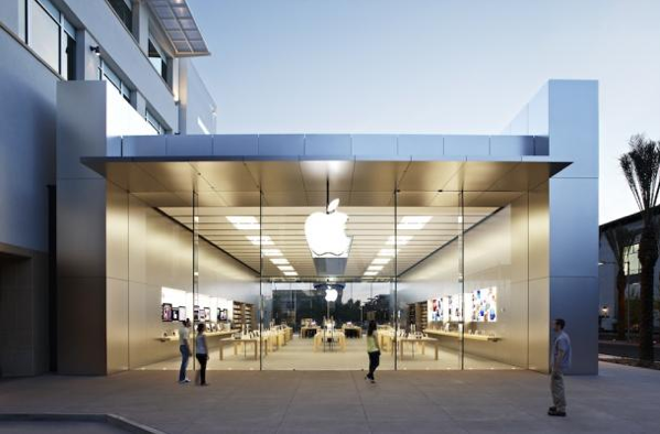 New apple store design in scottsdale arizona looks slick for Retail store exterior design
