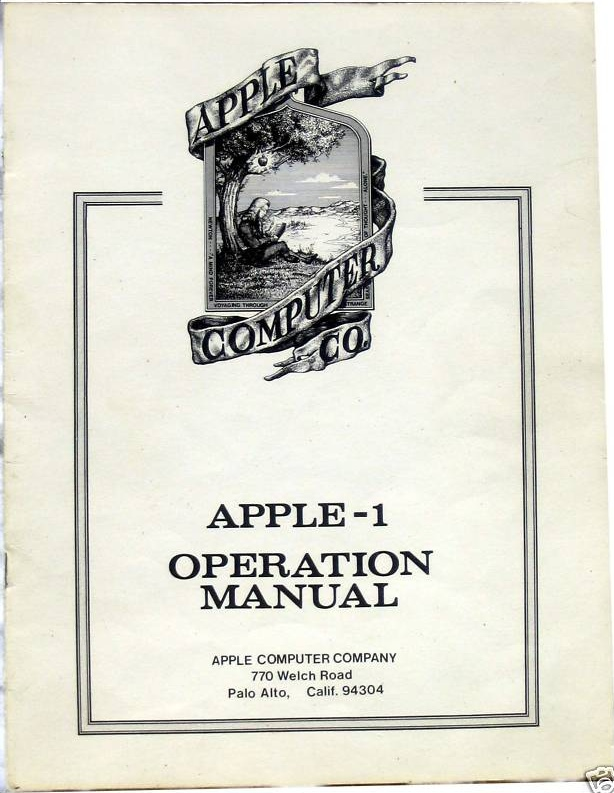 Apple's First User Manual Was